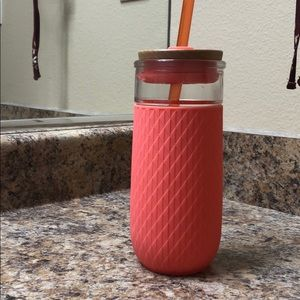 Ello Glass Water Bottle w/ Straw